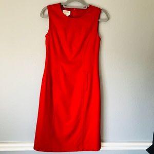 Talbots Sleeveless Red Midi Dress SZ 4